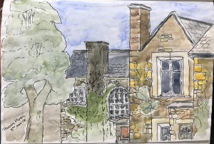 The Priory - Pen & Watercolours on Paper