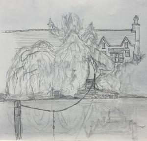 Symonds Yat - Pencil on Paper