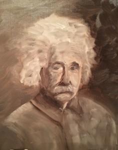 Albert - Oil on paper