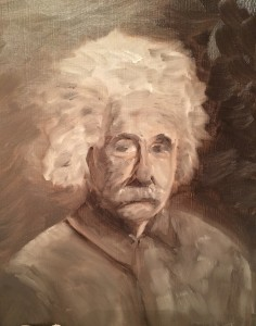 Albert - Oil on paper