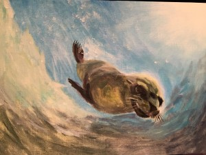 Seal - Acrylic on paper