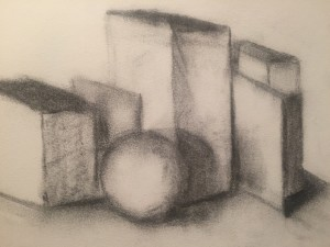 Shadows - Charcoal on paper