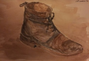 The Boot - Watercolour on paper