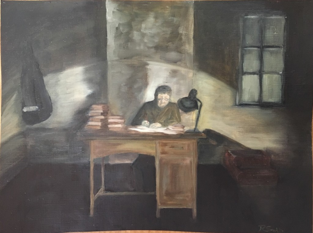 The Desk - Oil on paper