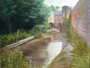 Watermill - Oil on paper