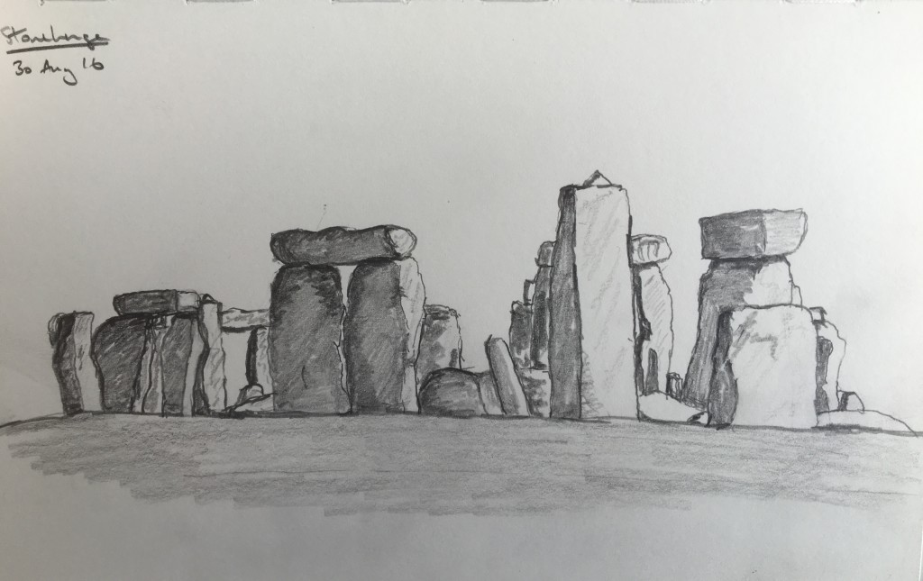 Stonehenge - Pencil on Paper