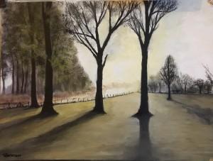 Sunrise - Oil on paper